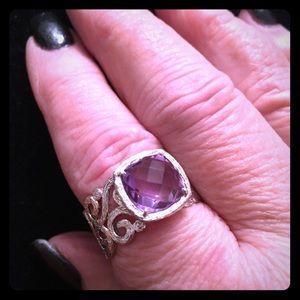 Sterling Amethyst Ring